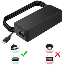 65W USB C Chargeur pour Lenovo ThinkPad X1 Yoga 2nd 3rd 20JD 20JE 20JF 20JG 20LD 20LE 20LF 20LG ADLX65YDC3D Portable Type C Adaptateur