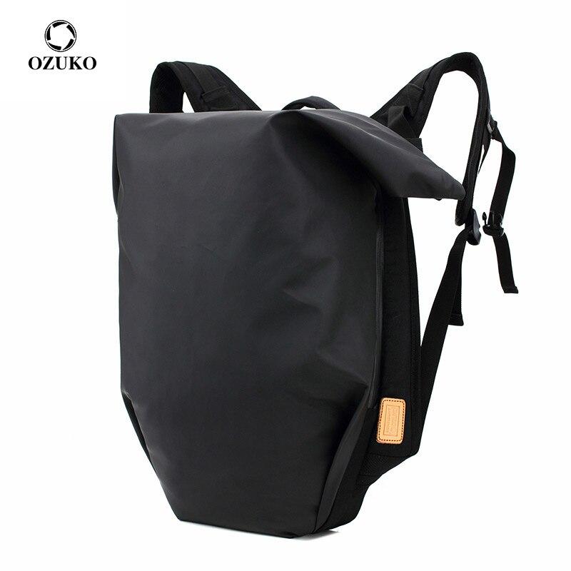 OZUKO جديد مقاوم للماء الرجال على ظهره متعددة الوظائف محمول على ظهره للمراهقين حقيبة مدرسية سعة كبيرة حقيبة السفر الذكور Mochila