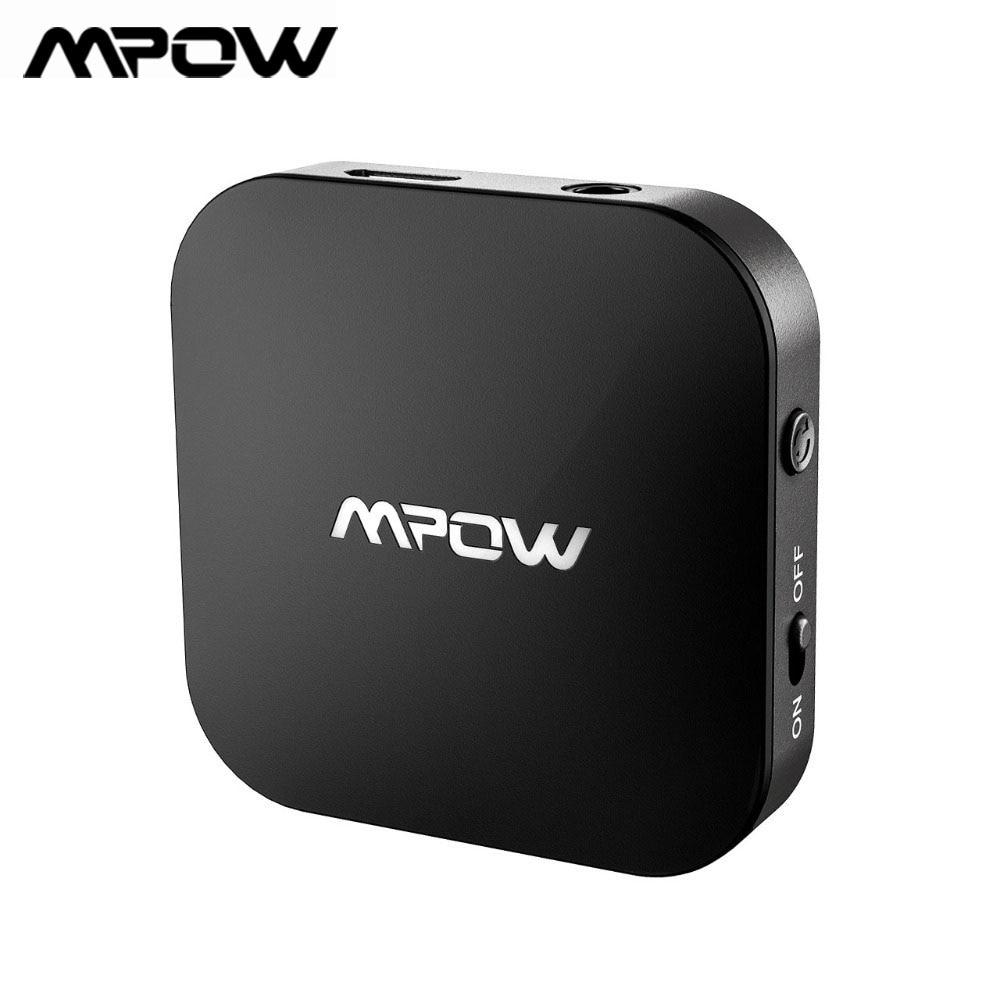 Adaptador transmisor inalámbrico Mpow Original de 3,5mm soporte APTX/APTX-LL V5.0 adaptador Bluetooth 30H tiempo de reproducción largo para coche de TV