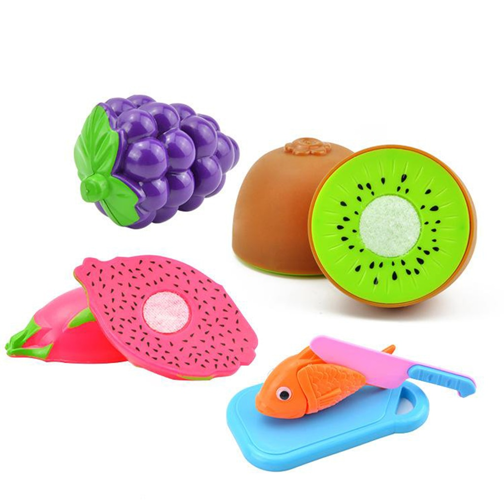 Cutting Food Toys Pretend Play Toys Set Cutting Pizza Fruits Vegetable 24pc