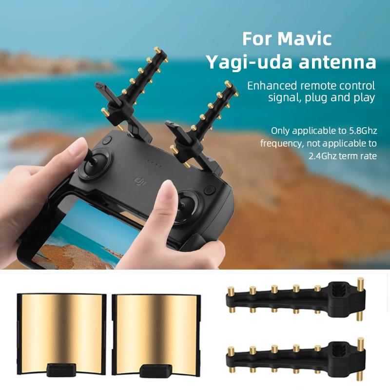 Пульт дистанционного управления Yagi, антенна, усилитель сигнала, расширитель диапазона для DJI Mavic Mini 1/SE Air Spark 2 Pro Zoom FIMI X8 SE 2020