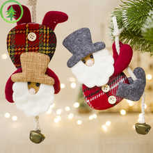 Creative Santa Claus Christmas Bell Doll Decoration For Home Xmas Tree Kid Gift Christmas Decorations For Home Indoor