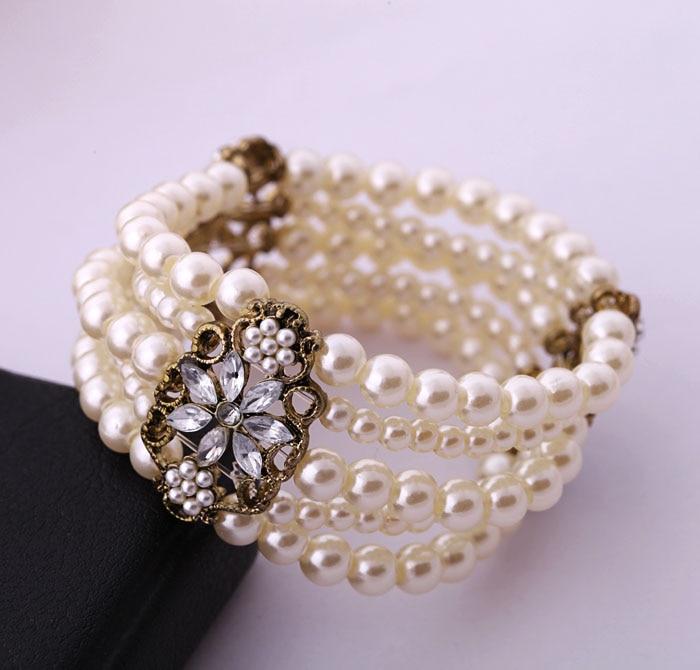 Bulk Price Retro Classic Simulated Pearl & Bangles Bracelets