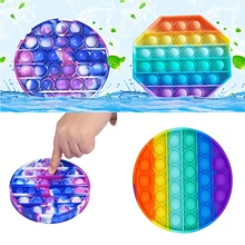 Antistress Toys Bubble Popping Game Push Fidget Sensory Toy Funny Adult Kids Reliver Stress Toys Sil