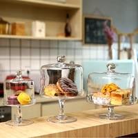 western style glass candy jar food storage tank bottles jar with lid cake tray fruit dessert stand wedding party decor jars