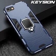 KEYSION Antiurto Cassa Dell'armatura Per il iPhone SE 2020 Nuovo SE 2 Anello di Copertura Posteriore Del Telefono per Apple iPhone11 Pro Max XS XR X 8 7 6 6S Plus