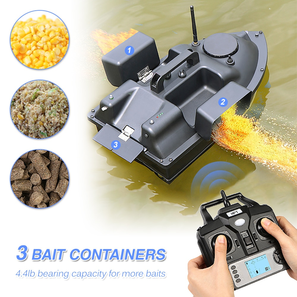 GPS FishingBait Boat 3 Bait Containers Wireless Bait Boat Automatic Return Function 2.5kg bait cruise Fishing Smart RC Bait Boat