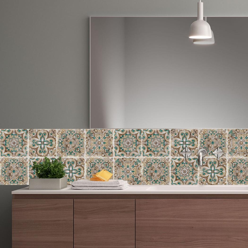 Un conjunto de 10 piezas de pasta de cristal italiano clásico, azulejo de cerámica dura, cocina, baño, decoración de pared antiincrustante, Europa