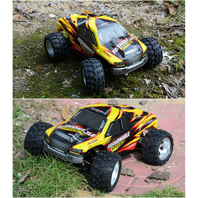 1:18 Wltoys A979-A 2.4G 1/18 Scale 4WD RC Speedcar 35km/h Remote Control Racing High Speed Shockproof Off-Road Car Yellow Metal enlarge