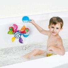 Plastikowe zabawki do kąpieli dla niemowląt dzieci wanna do łazienki zabawki kąpielowe Scoop Water Windmill Waterwheel Kids fun basen zabawki do gry