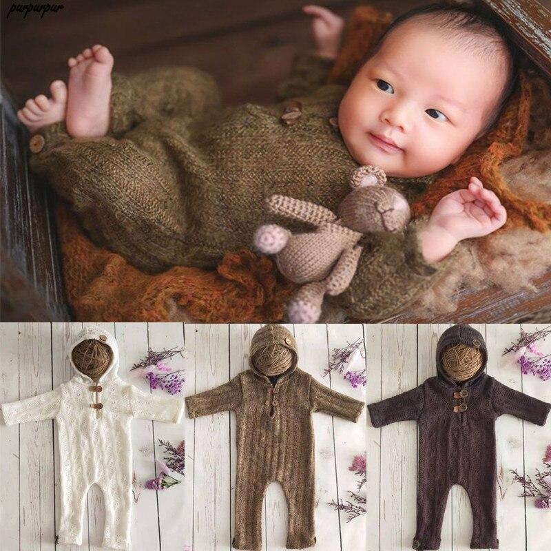 Комбинезон с шапочкой и длинным рукавом для новорожденных, Вязаный комбинезон ручной работы, подарок для младенцев