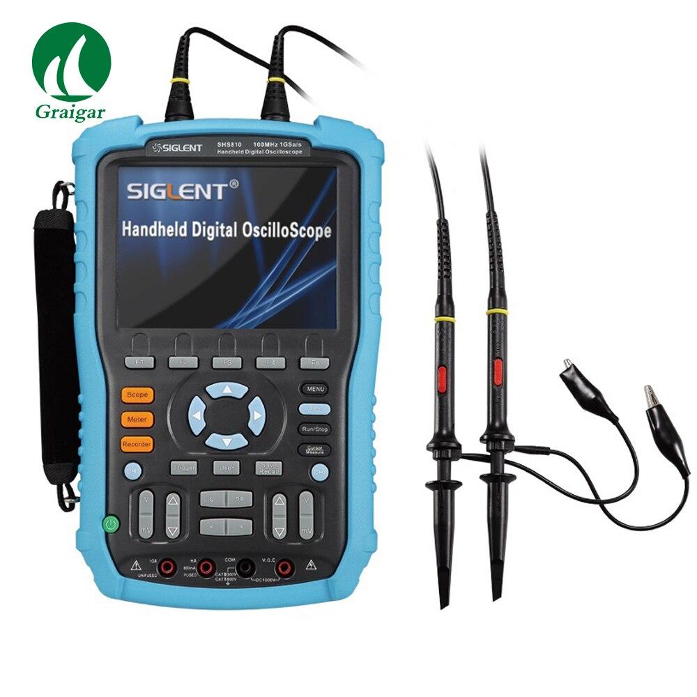 Siglent shs815 osciloscópio digital handheld 150mhz 2 canais osciloscópio com 5.7 polegadas de cor TFT-LCD