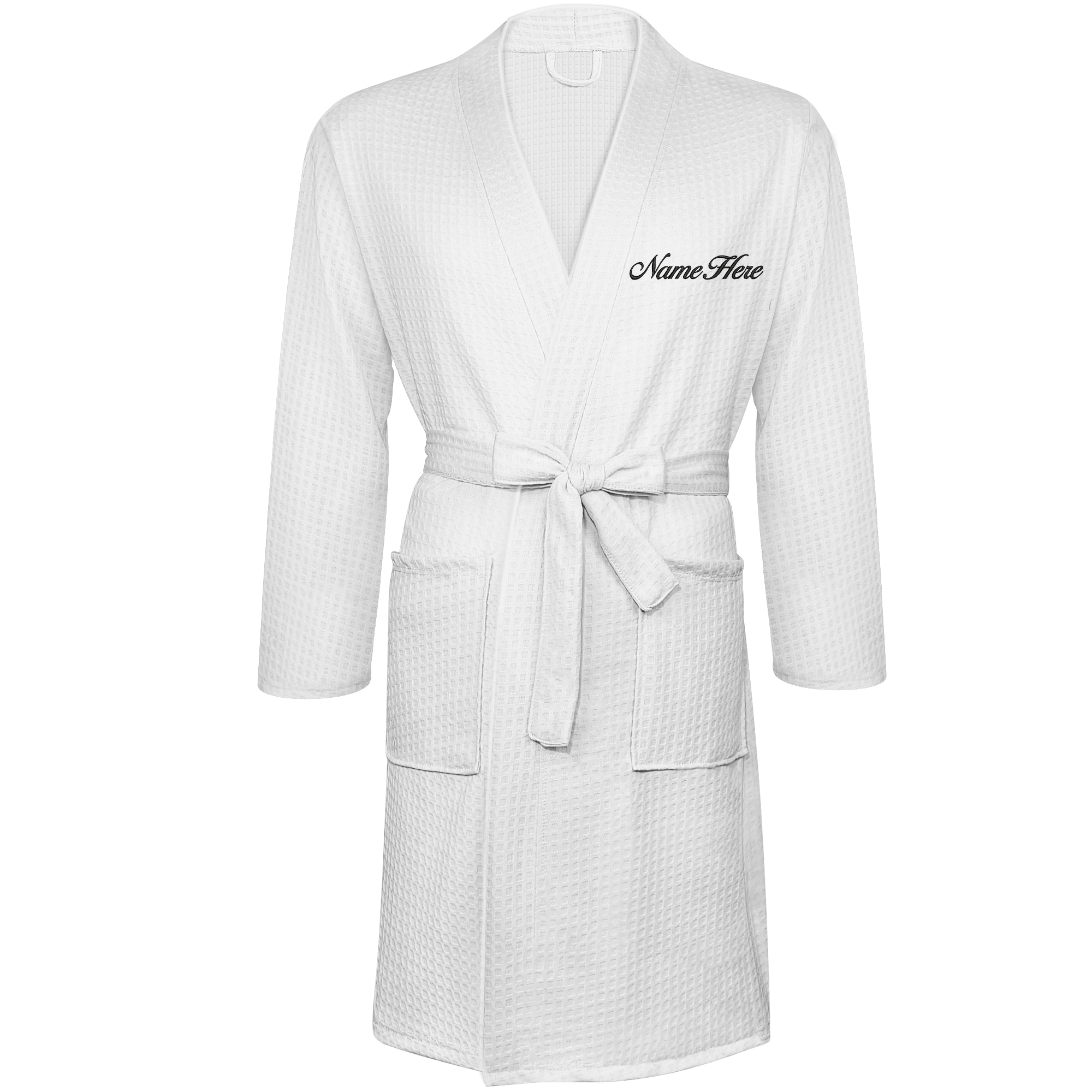 Custom Robes Monogrammed Bathrobes 1Pcs Personalized Embroidered Waffle Robes with Names Free shipping