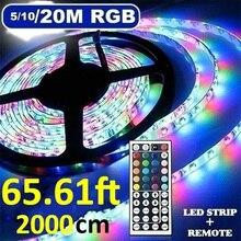 5/10/20M SMD 3528 LED bande lumière RGB ruban lampe Vintage couverture ampoule garde lampe pendentif pour TV écran de bureau rétro-éclairage