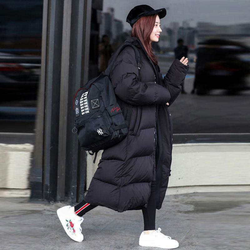 Abrigo Parka Extra largo de invierno para mujer, Chaqueta de algodón con capucha de talla grande para mujer 2019, abrigo para mujer, prendas de vestir, Puffer coreano
