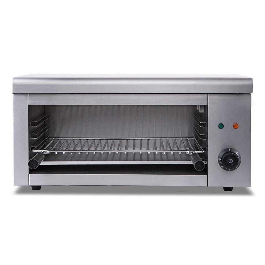 فرن كهربائي مثبت على الحائط بقدرة 2000 واط محمصة خبز كهربائية منزلية للبيتزا وفرن للشواء بدرجة حرارة 50-300 درجة مئوية