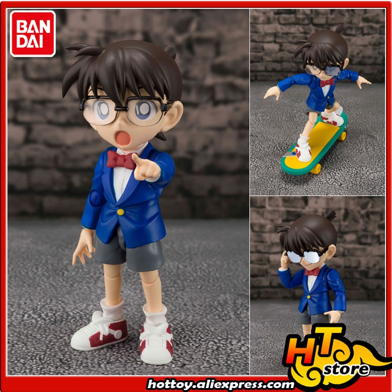"Figura de acción de 100% Original BANDAI SPIRITS Tamashii Nations S.H.Figuarts (SHF)-Conan Edogawa-parte de seguimiento-""Detective Conan"""