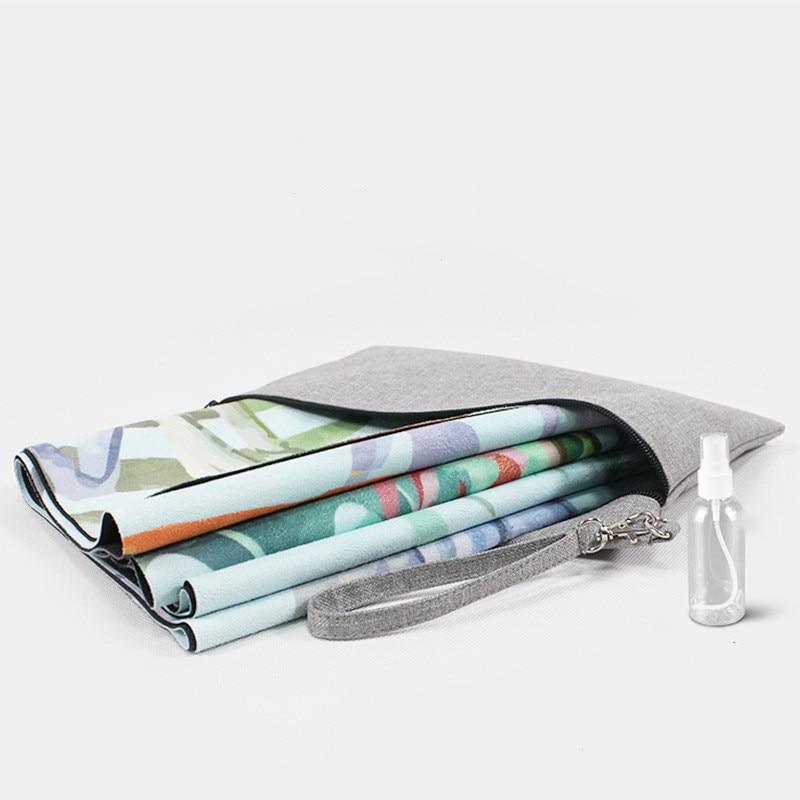 1.5MM Ultra-Light Folding Yoga Mats Floral Printed Tropical Mandala Suede Natural Rubber Pilates Blankets Multiple For Beginner