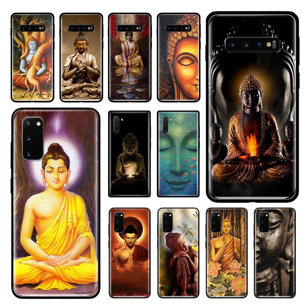 El Buda Gautama Buda funda para Samsung Galaxy S20 Ultra S10 Plus 5G S10e S9 S8 Nota 10 Lite 9 negro suave de la cubierta del teléfono bolsas