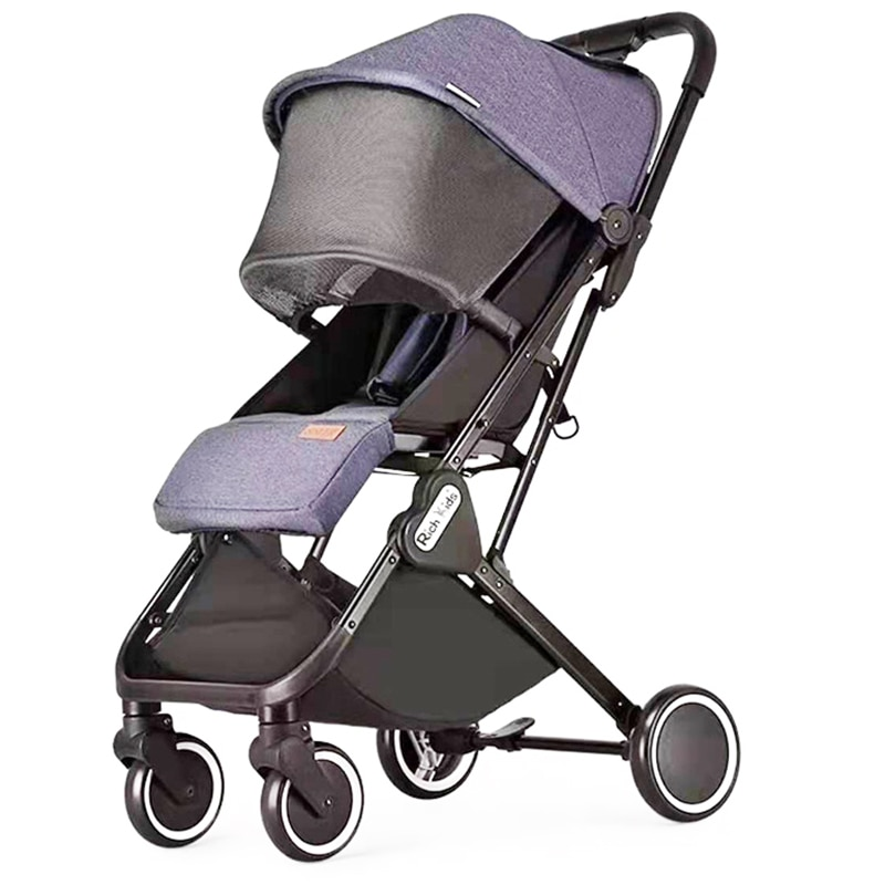 High Landscape Aluminum Stroller Can Sit and Lie Down Four Seasons Universal Folding Portable Baby Umbrella Stroller
