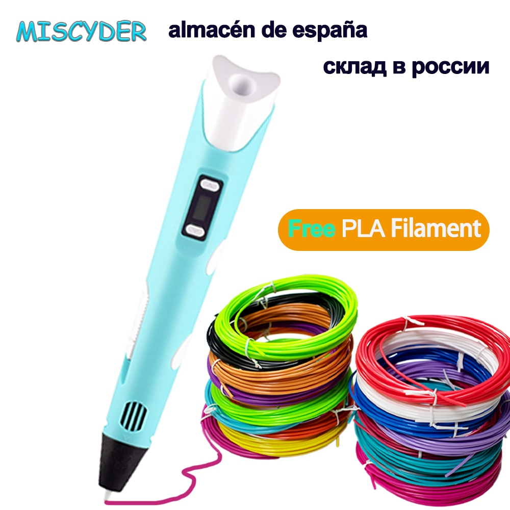 Original 3D Pen For Children 3D Drawing Printing Pencil with LCD Screen With PLA Filament Toys for K
