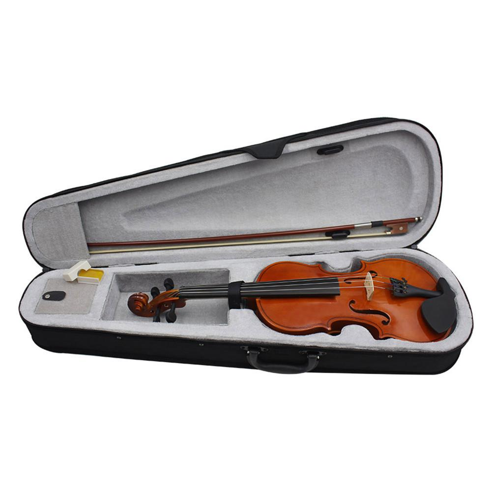 4/4 81.0*26.0*12.0cm Violin Natural Acoustic Solid Wood Spruce Flame Maple Veneer Violin Fiddle with Cloth Case Rosin Sets 1pc violin rosin natural rosin for bows less dust violin viola cello bows rosin black rosin musical instrument accessories