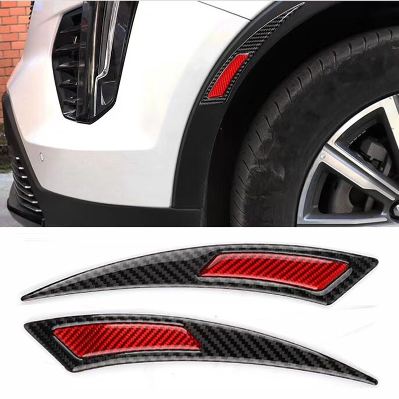 HYZHAUTO True Carbon Fibers Car Sticker Auto Fender Anti-scratch Strips Trim Protection Reflective Tape 2Pcs/lot