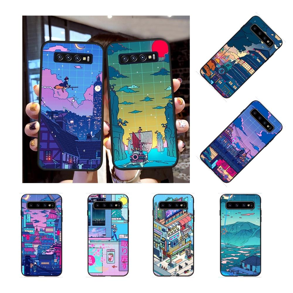 NBDRUICAI Cyberpunk Konoha Cover Black Soft Shell Phone Case for Samsung S9 plus S5 S6 edge plus S7 edge S8 plus S10 E S10 plus