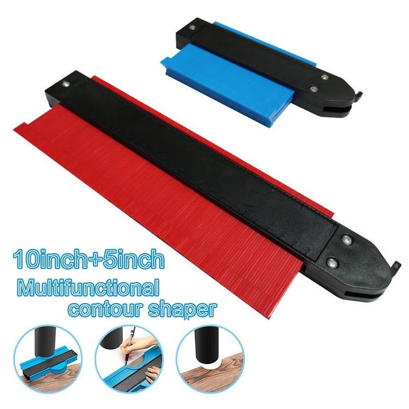 New 5/10 Inch Contour Gauge Plastic Profile Copy Gauge Profile Jig Guide Marking For Tile Edge Shape Copy Measuring Tool