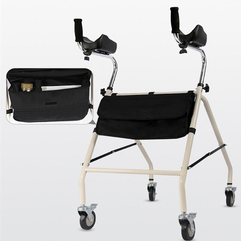 مشاية لكبار السن من سبائك الالومنيوم مشاية للمعاقين للسفر مع عجلات وجلوس مشاية عصا تاهيل للمشي