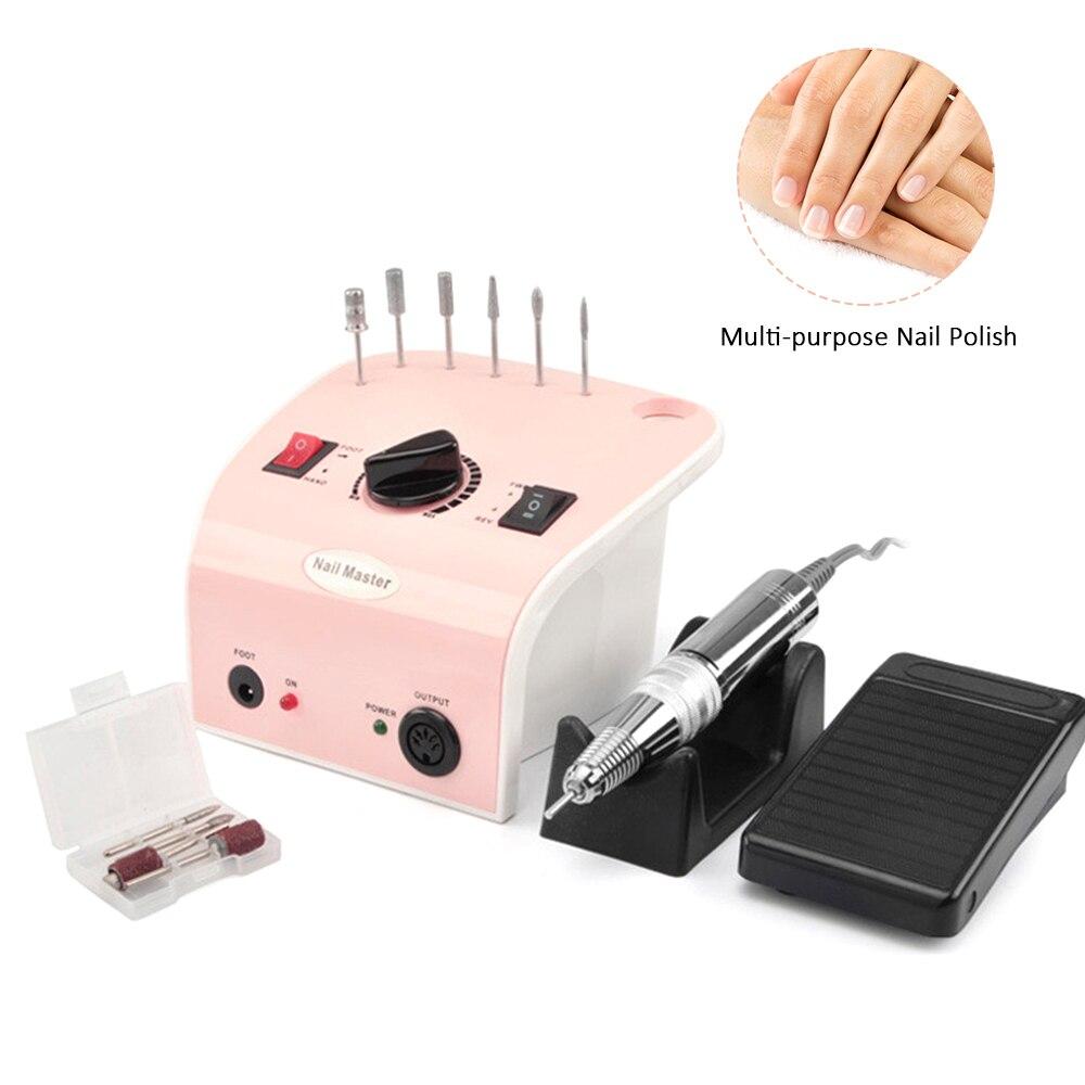 Máquina de Broca do Prego Conjuntos para Manicure Elétrica Moinho Cortador Unhas Dicas Manicure Prego Pedicure Arquivo Ferramenta 35000rpm 35w