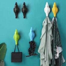 Crochet mural en résine   Oiseau de Simulation, crochet serviette vêtements chapeau sac décole, crochet de maison chambre salle de bain, crochet de décoration doiseau mural