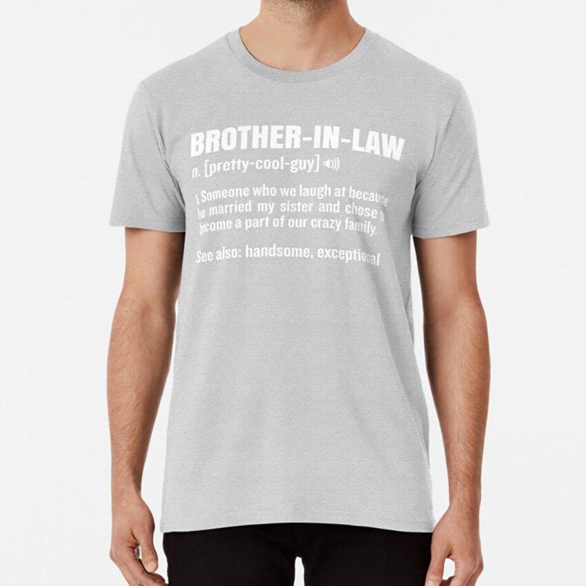 Brother - In - Law Funny Meaning Brother Gag Gift camiseta definición del diccionario significado gracioso Humor divertido humorístico