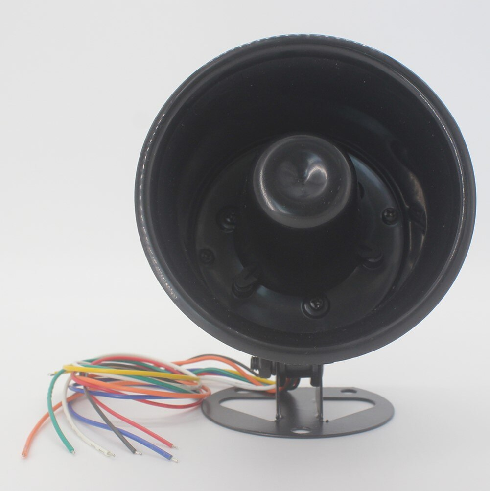 5 Tone Loud Horn Speaker 32V 10W Intelligent amplifier Alarm Siren Horn car alarm and Truck Backup Alarm (Black) 1set tone sound car emergency siren horn emergency amplifier hooter 12v 100w