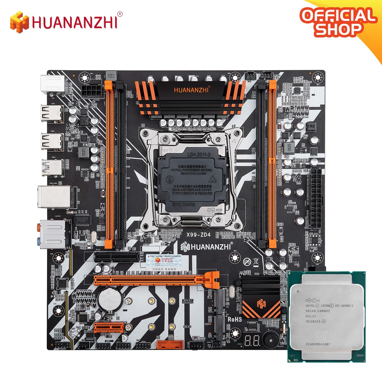HUANANZHI X99 ZD4 X99 اللوحة مع إنتل سيون E5 2690 V3 كومبو مجموعة عدة دعم DDR4 RECC NON-ECC الذاكرة NVME USB 3.0 متر ATX