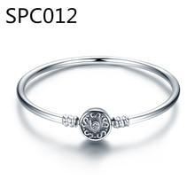 (박스 제외) SPC1 솔리드 리얼 스털링 실버 패션 4mm 비즈 체인 팔찌 20cm For Teen Girls DZ
