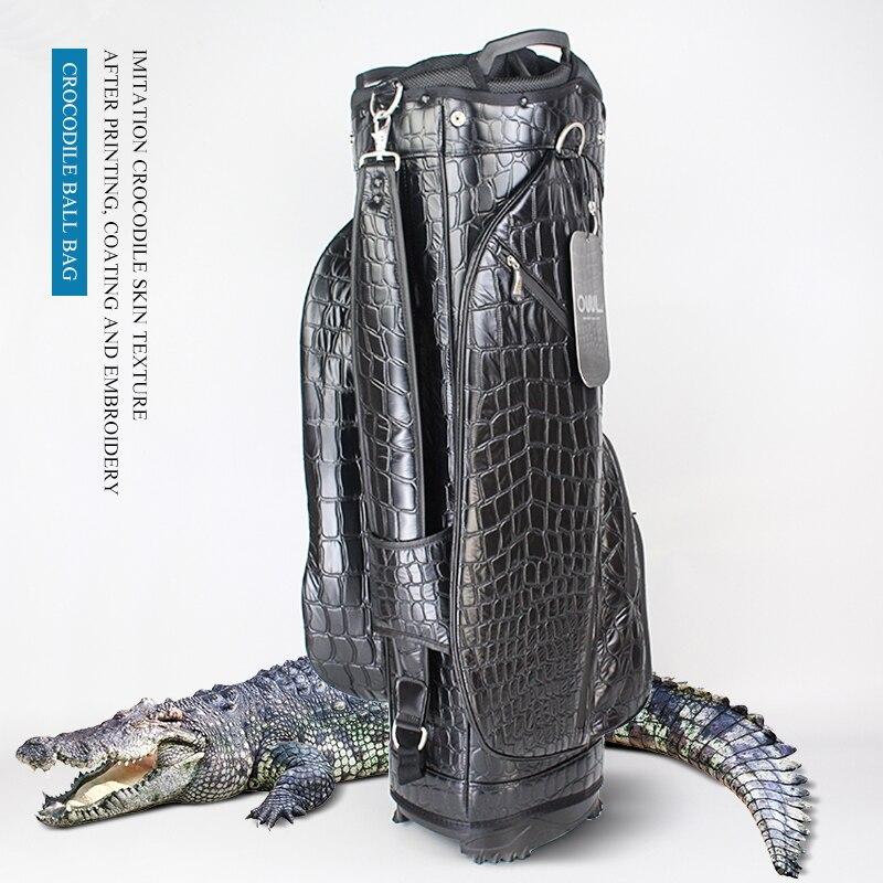 Мужская стандартная сумка для гольфа для мальчиков, сумка для гольфа с подставкой, сумка для гольфа, полный набор для гольфа, стандартная сумка, 14 пакетов, сумка-крокодил