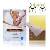 12pcsbag fashion weight loss paste navel slim patch health slimming patch slimming diet products detox adhesive jmn024