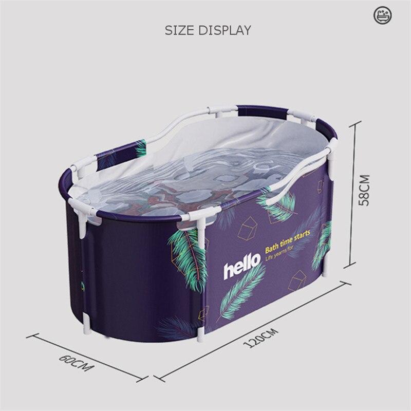 Portable Folding Bathtub for Adult Baby Swimming Pool Large Plastic Bathtub Insulation Bath Barrel SPA Bathing Bucket Bath Tub enlarge