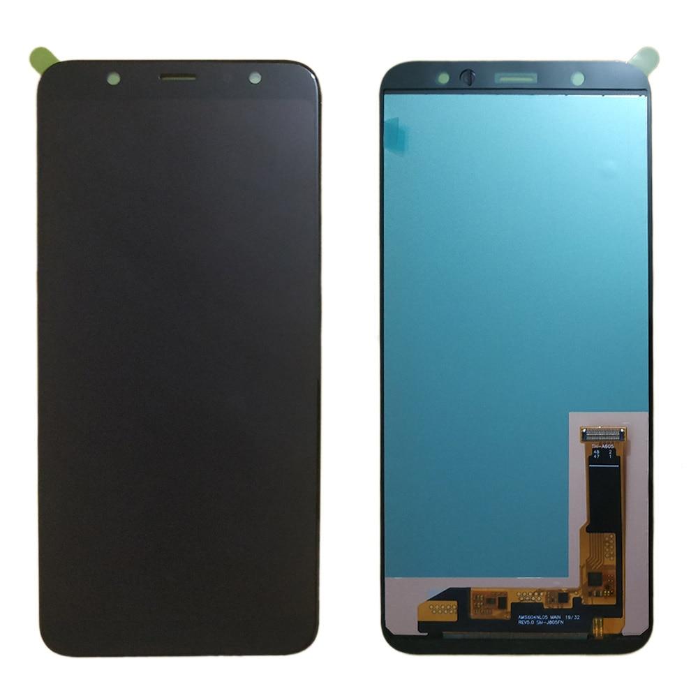 J805 oled lcd para Samsung J8 + J8 plus LCD J805F A6 + A6 más A605 LCD reemplazo de la pantalla oled pantalla lcd módulo A605F A605FN