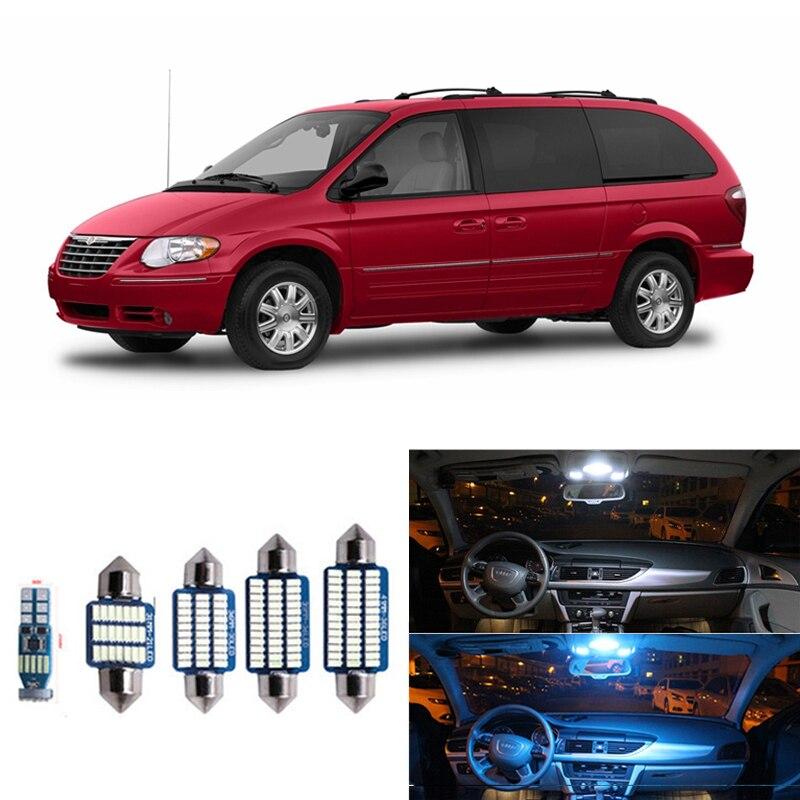 15 шт. Canbus Белый светодиодный комплект ламп для салона Chrysler Town кантри 2001-2007 Карта Купол багажник номерной знак