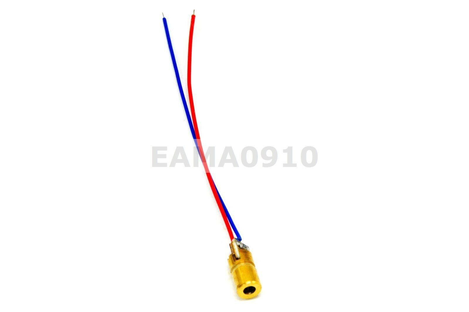 20pcs 650nm 2-5mW 3V 6*10mm Mini Red Laser Dot Diode Module
