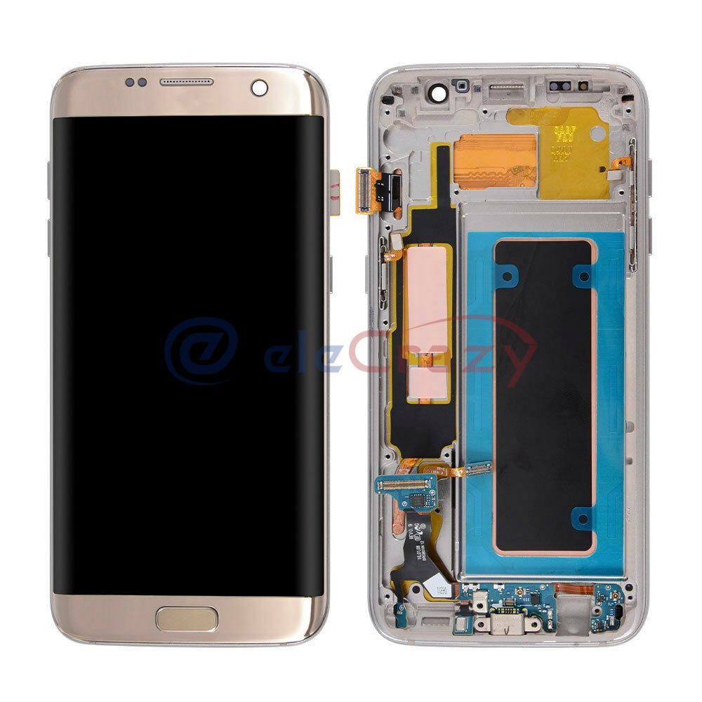 Original AMOLED for Samsung Galaxy S7 Edge LCD Screen G935 G935F Display with Touch Frame Repair Kit Replacement 100% Tested enlarge