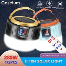 280W Solar LED Camping Light USB Rechargeable Bulb For Outdoor Tent Lamp Portable Lanterns Emergency Lights For BBQ Drop Ship