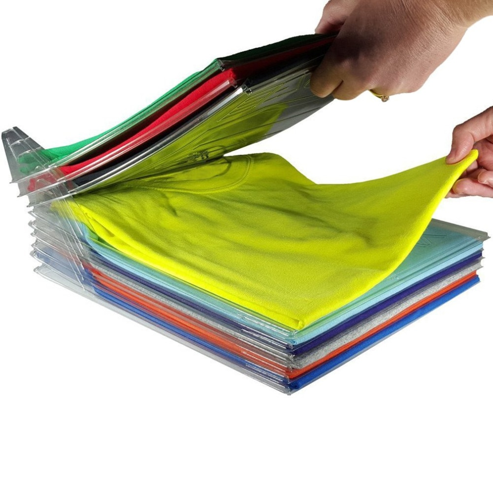 20Pcs/lot Creative Home Closet Clothes Folder Organizer Shirt Folder Documents Dividers T-Shirt Organizations Storage System