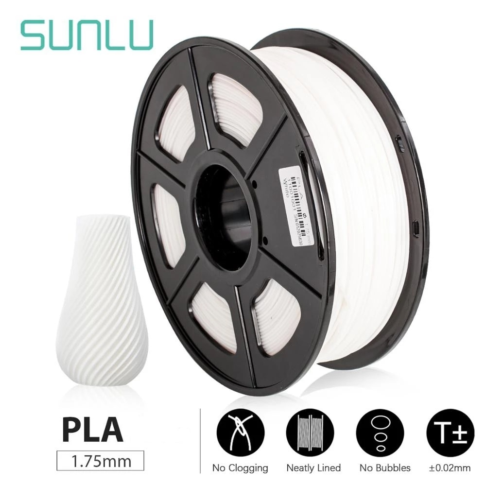 SUNLU 3D خيوط PLA 1.75 مللي متر مع بنفايات Reach شهادة ل diy هدايا خاصة 3d القلم filamento pla フィラメント pla