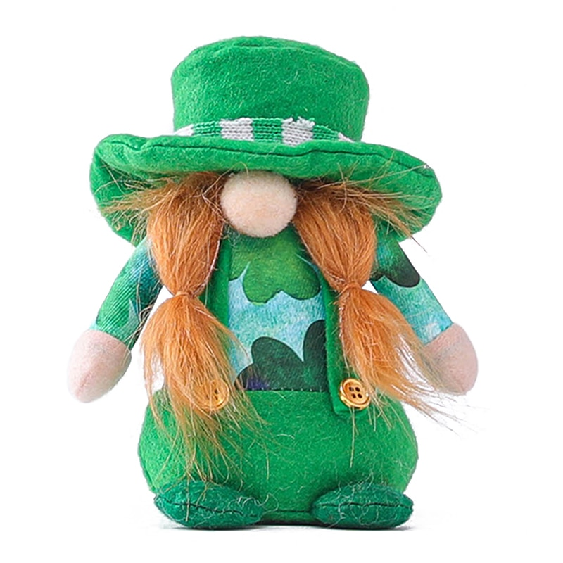 1 PCS St Patricks Day Gnome Swedish Tomte Scandinavian Nisse Plushie Lucky Toys Lovely Plushie Ideal Gift for family