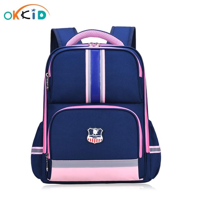 Mochilas de escuela para niñas OKKID, bonita mochila escolar para niños, bolsa de libro para estudiantes, tira reflectante, mochila impermeable, regalo para niños