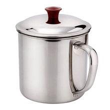 High Quality 200/380ML Metal Coffee Mug Wall Insulated Tea Beer Cup With Handle Home Camping