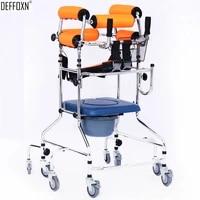 stroke hemiplegic rehabilitation stand walker aid elderly the disable walk support rollator frame toilet seat 68 wheel chair